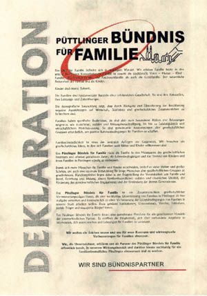 Deklaration Püttlinger Bündnis für Familien